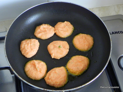 ... Daaler Boda'r Dalna (Masoor/Red Lentil Fritters in a spicy curry