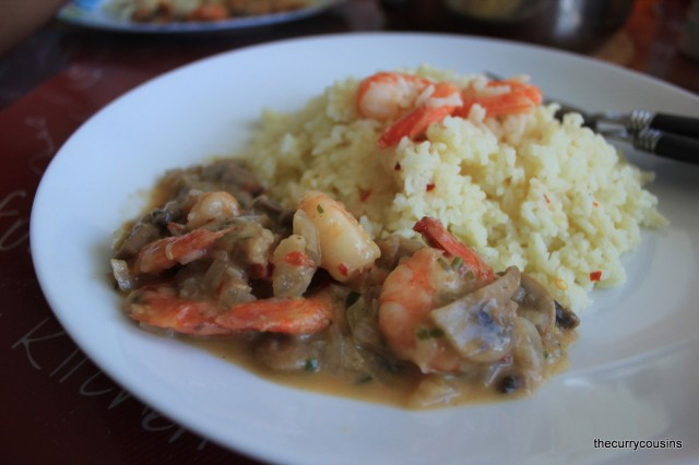 Easy Peasy Prawn Risotto with Mushroom and Prawn Sauce